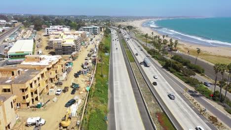 Aerial-Of-Condos-And-Development-Construction-Along-The-Pacific-Coast-Near-Ventura-California-1