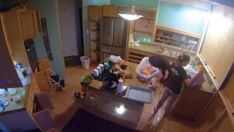 Very-Good-Time-Lapse-Of-The-Demolition-Of-A-Kitchen-During-Remodeling-And-Home-Improvement-Construction