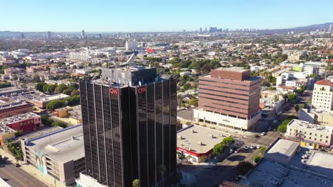 Aerial-Of-The-Cnn-Cable-News-Building-In-Hollywood-Los-Angeles-Bureau-California-1