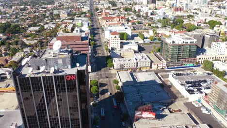 Aerial-Of-The-Cnn-Cable-News-Building-In-Hollywood-Los-Angeles-Bureau-California-3