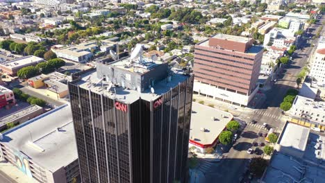 Aerial-Of-The-Cnn-Cable-News-Building-In-Hollywood-Los-Angeles-Bureau-California-4