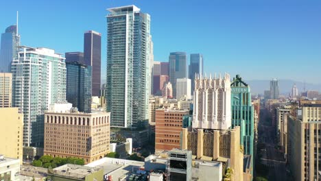 Good-Aerial-Of-Downtown-Los-Angeles-With-Apartments-And-Skyscrapers