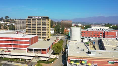 Aerial-Of-Cal-State-La-University-Campus-East-Los-Angeles-California-1