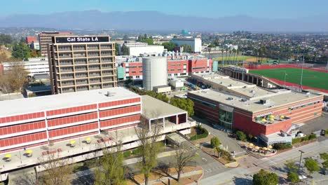 Aerial-Of-Cal-State-La-University-Campus-East-Los-Angeles-California-2