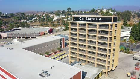 Aerial-Of-Cal-State-La-University-Campus-East-Los-Angeles-California-3