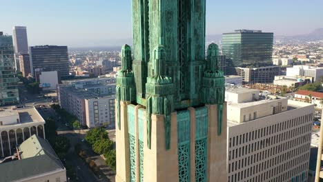 Good-Aerial-Of-The-Bullocks-Wilshire-Art-Deco-Historical-Building-And-Copper-Summit-In-Los-Angeles-California-5