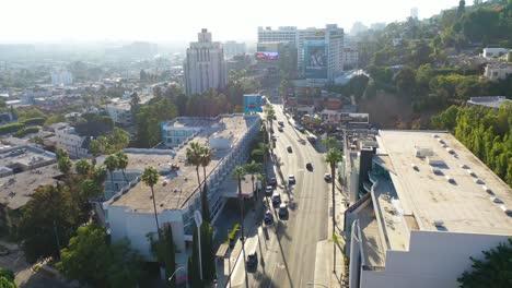 Vista-Aérea-Over-Sunset-Blvd-Sunset-Strip-In-West-Hollywood-Los-Angeles-California-1