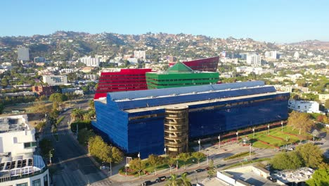 Aerial-Over-The-Pacific-Design-Center-In-West-Hollywood-Los-Angeles-California