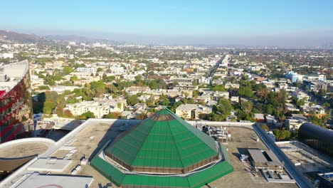 Aerial-Over-The-Pacific-Design-Center-In-West-Hollywood-Los-Angeles-California-1