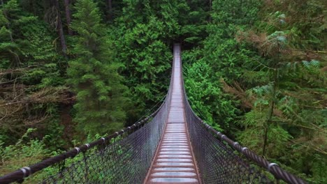 The-Lynn-Canyon-suspension-bridge-is-walked-upon-in-British-Columbia-Canada