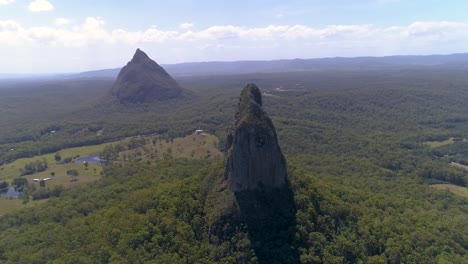 An-Aerial-View-Shows-The-Glass-House-Mountains-In-Queensland-Australia-1