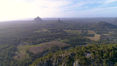 An-Aerial-View-Shows-The-Glass-House-Mountains-In-Queensland-Australia-2