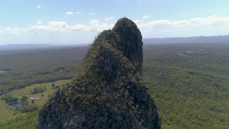 An-Aerial-View-Shows-The-Glass-House-Mountains-In-Queensland-Australia-3