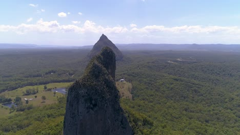 An-Aerial-View-Shows-The-Glass-House-Mountains-In-Queensland-Australia-4