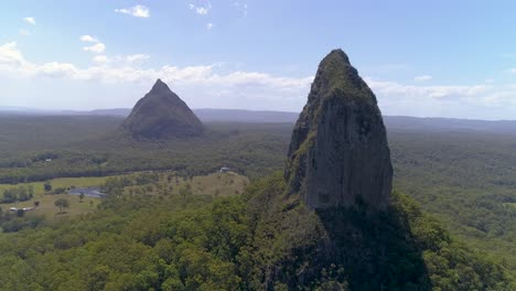 An-Aerial-View-Shows-The-Glass-House-Mountains-In-Queensland-Australia-5