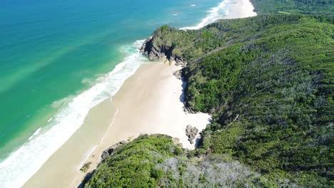 An-Aerial-View-Shows-Whites-Beach-In-Byron-S-Bay-Australia
