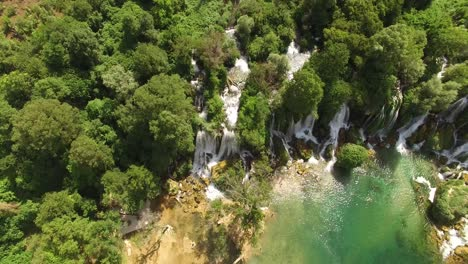 An-Aerial-View-Shows-The-Kravica-Waterfalls-In-Mostar-Bosnia