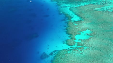 An-Aerial-View-Shows-The-Reef-Off-Of-Fiji