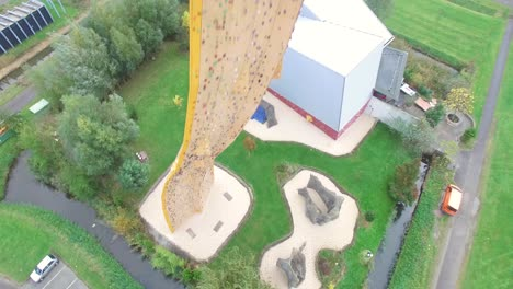 Tourists-Are-Seen-Atop-The-Excalibur-Climbing-Wall-In-Groningen-Netherlands-1