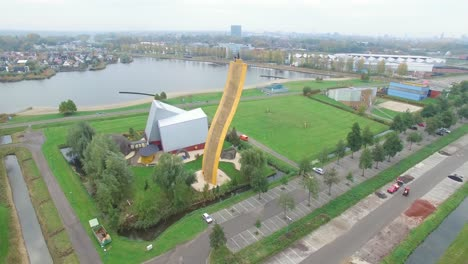 The-Excalibur-Climbing-Wall-And-Its-Surrounding-Area-Is-Seen-In-Groningen-Europe