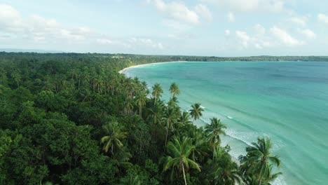 Una-Vista-Aérea-Muestra-Las-Olas-Rompiendo-En-Madwaer-Beach-En-Maluku-Indonesia-1
