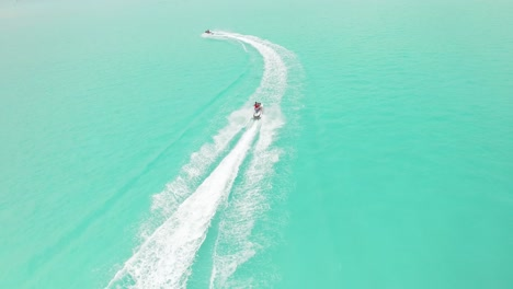 Tourists-Go-Jetskiing-In-Maldives