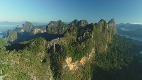 An-Aerial-View-Shows-Green-Mountain-Islands-Of-Khao-Sok-National-Park-In-Surat-Thani-Thailand-1
