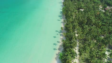 An-Aerial-View-Shows-A-Palmtree-Lined-Beach-In-Ko-Kut-Thailand