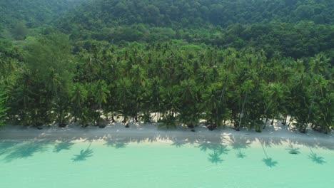 Una-Toma-Panorámica-Aérea-Muestra-Una-Playa-Bordeada-De-Palmeras-En-Ko-Kut-Tailandia-