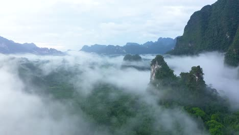 Misty-Green-Mountains-Are-Seen-In-Thailand