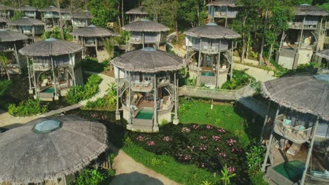 Tourist-Lodgings-Are-Seen-In-A-Thailand-Jungle-Resort