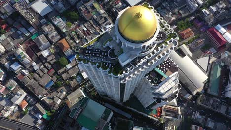 A-Bird-Seyeview-Shows-The-Sky-Bar-Atop-The-State-Tower-In-Bangkok-Thailand