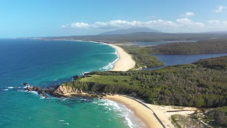 An-Excellent-Aerial-View-Of-Eurobodella-National-Park-S-Coastlines-In-Sydney-Australia