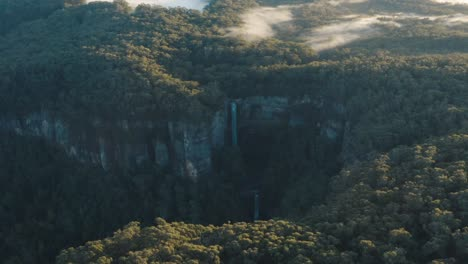 An-Excellent-Aerial-Distant-Shot-Shows-Belmore-Falls-In-New-South-Wales-Australia