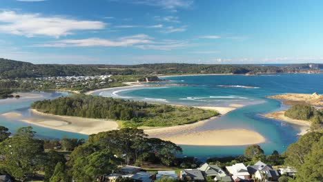 An-Excellent-Aerial-View-Of-Waves-Lapping-At-The-Beaches-Of-Tomakin-New-South-Wales-Australia-1