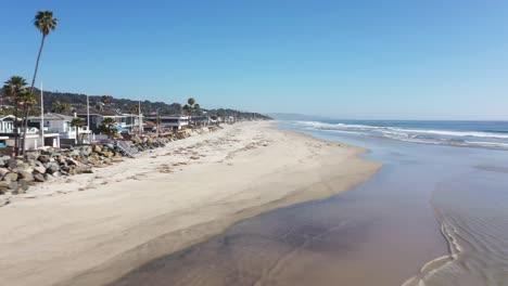 Aerial-Southern-California-San-Diego-Del-Mar-beach-empty-during-the-Covid19-coronavirus-pandemic-epidemic