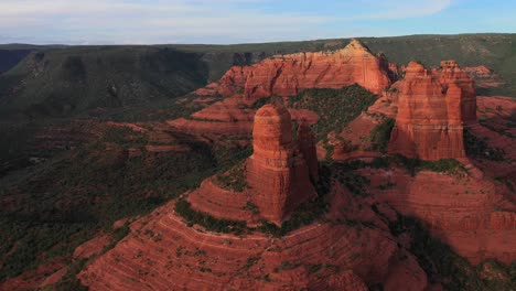 Beautiful-aerial-establishing-of-the-mountains-and-buttes-of-Sedona-Arizona-4