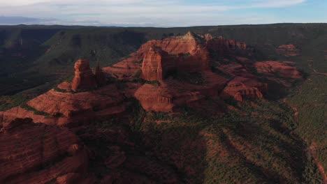 Beautiful-aerial-establishing-of-the-mountains-and-buttes-of-Sedona-Arizona-5