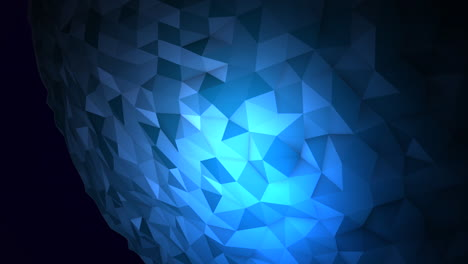 Animación-Orbe-Líquido-Azul-Abstracto-En-Cosmos-Fondo-Negro-1