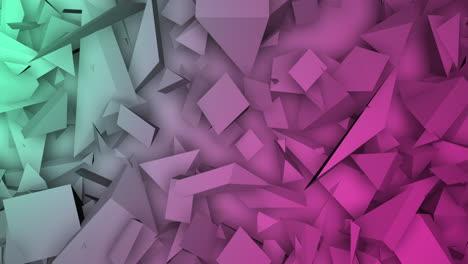 Movimiento-De-Formas-Geométricas-De-Color-Verde-Oscuro-Y-Rosa-Fondo-Abstracto