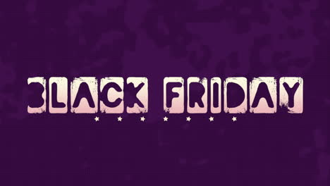 Animation-intro-text-Black-Friday-on-purple-hipster-and-grunge-background