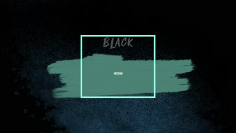 Texto-De-Introducción-De-Animación-Viernes-Negro-Sobre-Fondo-Verde-De-Moda-Y-Pincel