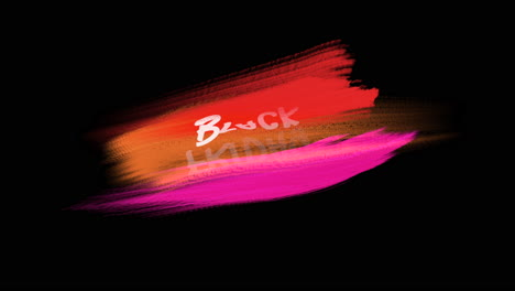Animation-intro-text-Black-Friday-on-red-fashion-and-brush-background