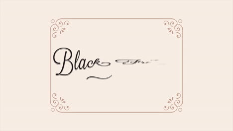 Animation-intro-text-Black-Friday-on-beige-fashion-and-minimalism-background-with-frame