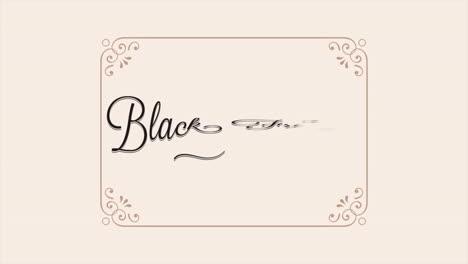 Texto-De-Introducción-De-Animación-Viernes-Negro-Sobre-Fondo-Beige-De-Moda-Y-Minimalismo-Con-Marco