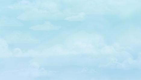 Fondo-De-Animación-De-Dibujos-Animados-Con-Nubes-De-Movimiento-Como-Telón-De-Fondo-Abstracto