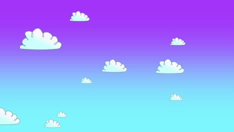 Cartoon-animation-background-with-motion-white-clouds-on-blue-sky-abstract-backdrop