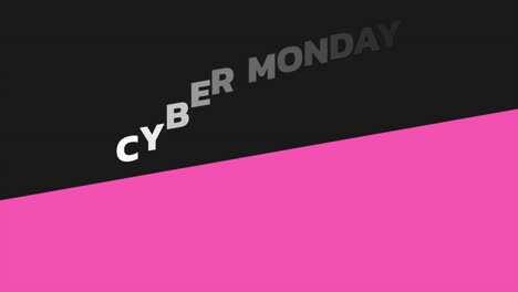 Animation-intro-text-Cyber-Monday-on-black-fashion-and-minimalism-background-with-geometric-pink-line