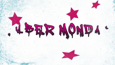 Animación-Intro-Text-Cyber-Monday-Sobre-Fondo-Hipster-Y-Grunge-Con-Estrellas