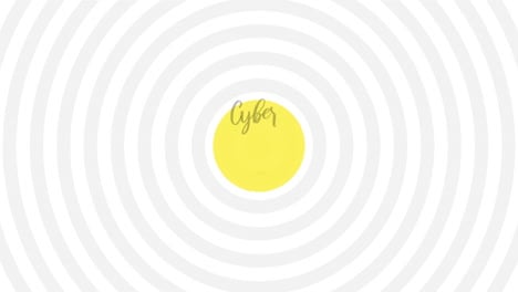 Animation-intro-text-Cyber-Monday-on-white-fashion-and-minimalism-background-with-abstract-vertigo-lines